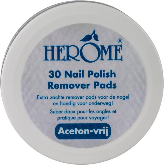 Herôme Caring Nail Polish Remover Pads - 30 st - removerpads