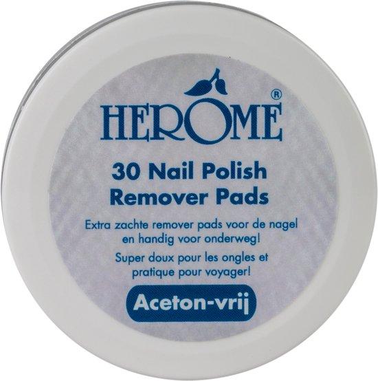 Herôme Caring Nail Polish Remover Pads - 30 stuks - Nagellakremover