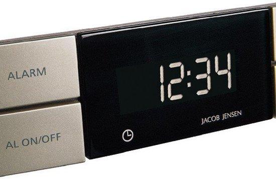 Jacob Jensen Alarmklok - zwart/zilver