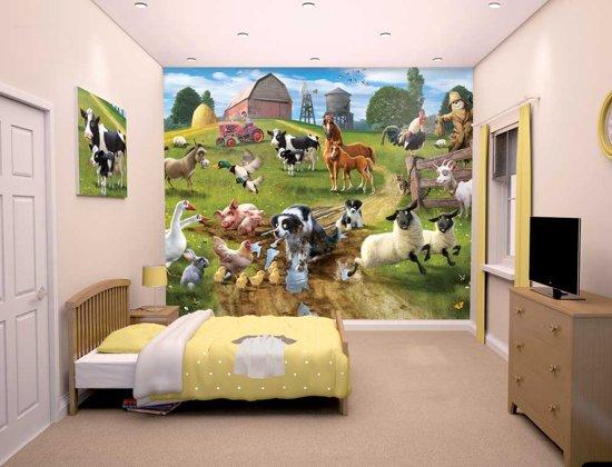 Kinderkamer Patronen Behang : Bol kinderbehang boerderijdieren