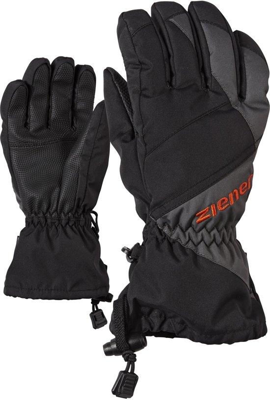 Ziener Agil AS Skihandschoenen Junior  Wintersporthandschoenen - Unisex - zwart/grijs