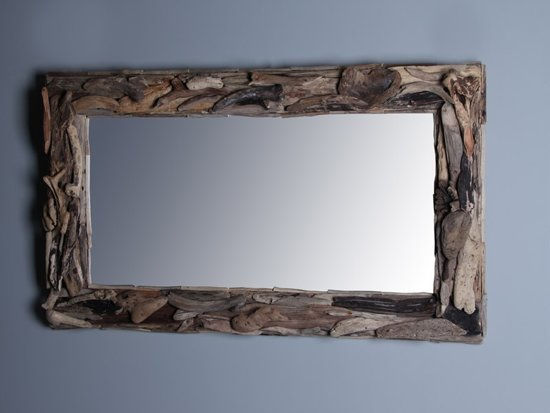 Spiegel Staand Zwart : Bol unieke spiegel drijfhout cm