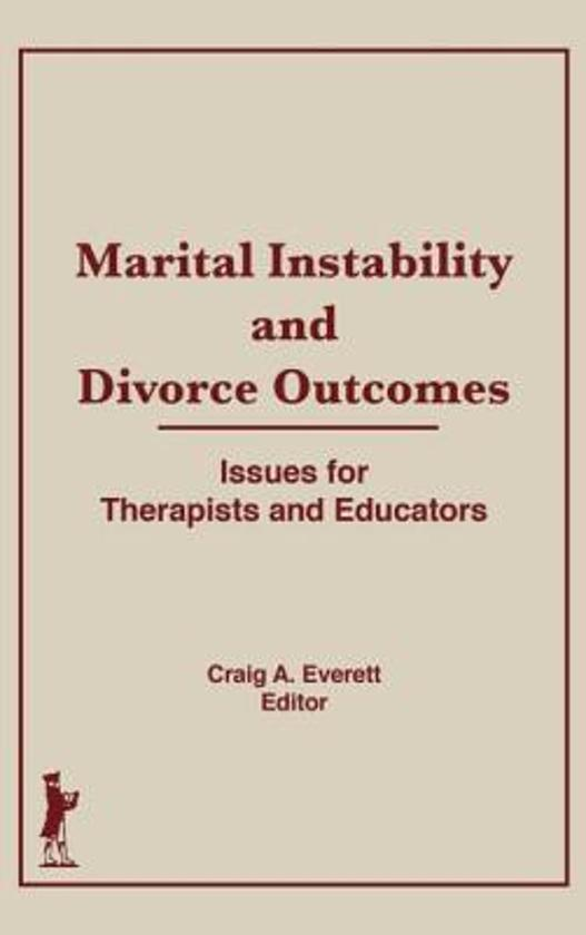 Afbeelding van Marital Instability and Divorce Outcomes