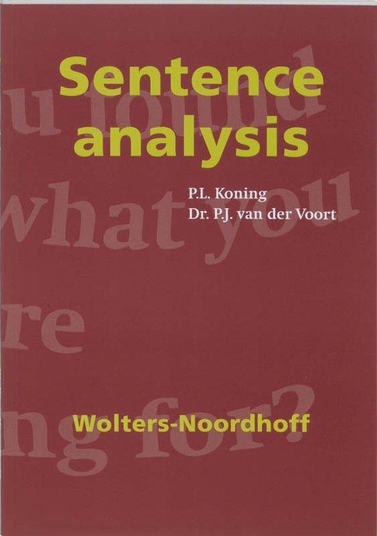 Sentence analysis - P.L. Koning