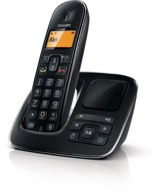 Philips CD1961B - Single DECT telefoon met antwoordapparaat - Zwart