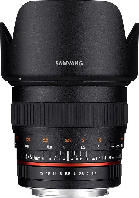 Samyang 50mm F1.4 As Umc - Prime lens- geschikt voor Nikon Spiegelreflex in Smuid