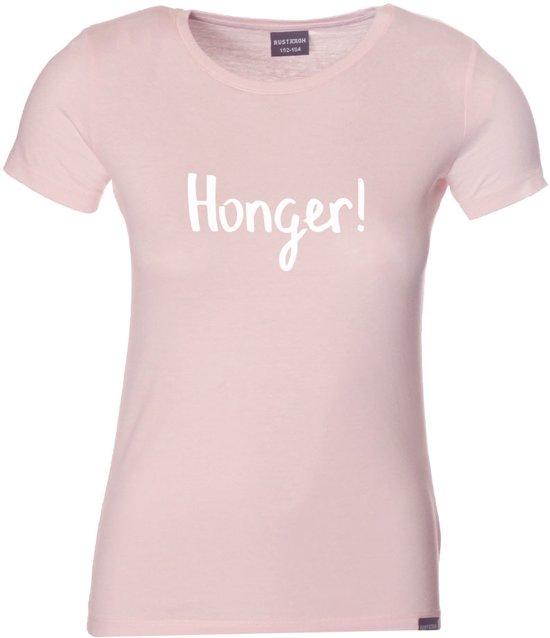 Honger T-shirt girl roze 134-146