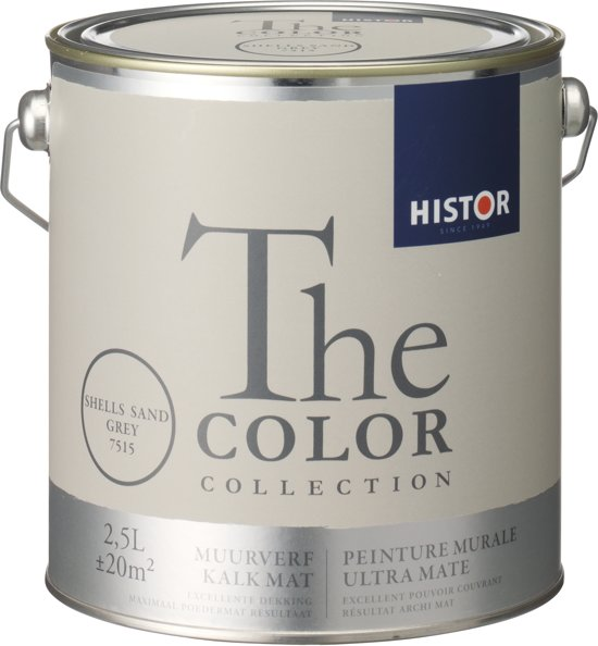 Histor The Color Collection Muurverf - 2,5 Liter - Shells Sand Grey