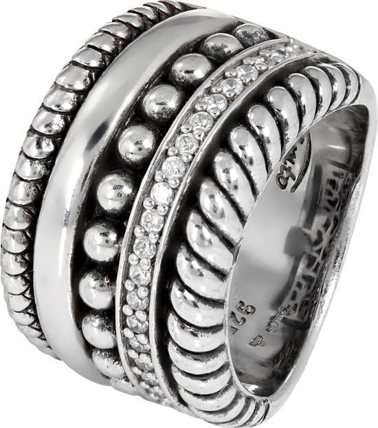 TI SENTO Milano Ring 1835ZI - Maat 58 (18,5 mm) - Gerhodineerd Sterling Zilver