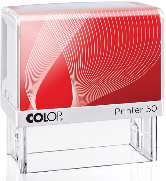 3x Colop stempel met voucher systeem Printer Printer 50, max. 7 regels, voor Nederland, 69x30mm