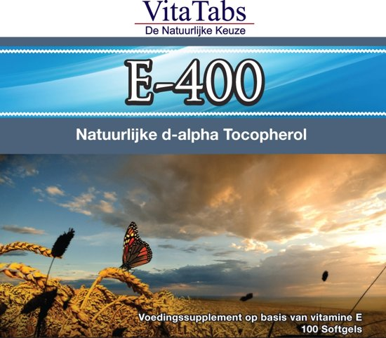 VitaTabs Vitamine E-400 - 268 mg - 100 softgels - Voedingssupplementen