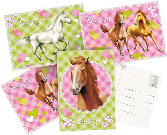 Bekend bol.com | Uitnodigingskaarten Paarden. 6st, Party Post | Speelgoed #WH49
