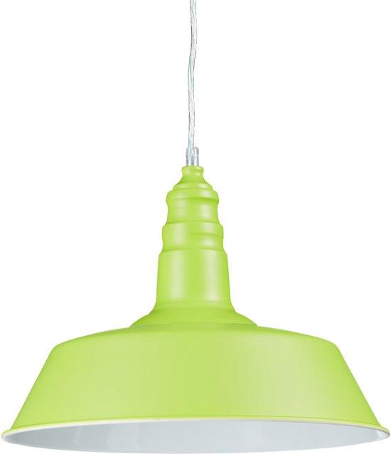 relaxdays - hanglamp industrieel - plafondlamp - kleurrijk ontwerp - hang lamp groen