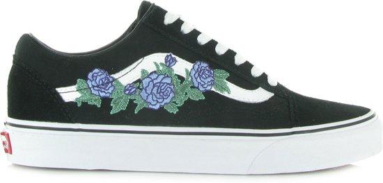 vans zwart met rozen