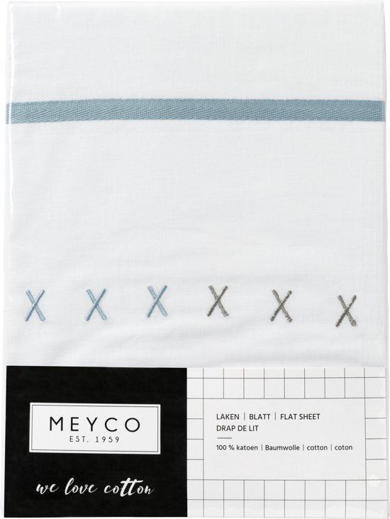 Meyco XXX ledikantlaken - 100 x 150 cm - Grijs/Stone green