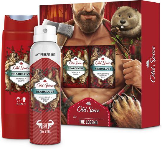 Old Spice Bearglove geschenkset - Deodorant Body Spray 150ml + Douchegel 250ml