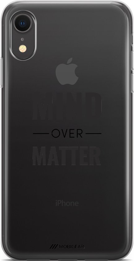 Bolcom Mobigear Design Tpu Hoesje Quote Mind Over Matter Iphone Xr