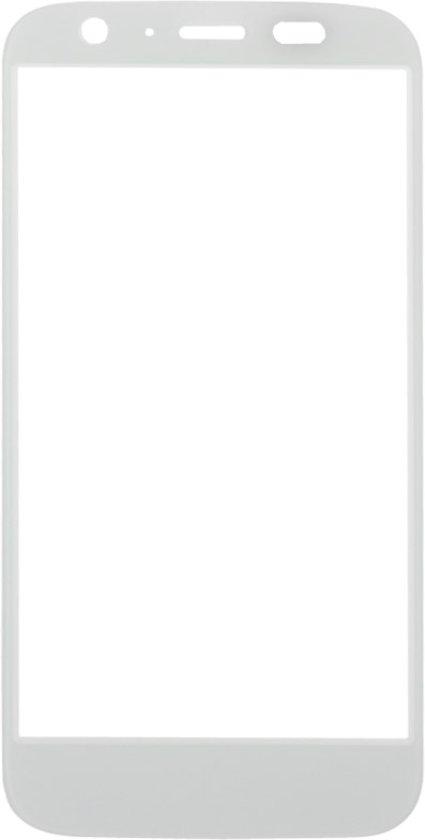 Let op type!! Voorste scherm buitenste glas Lens vervanging voor Motorola Moto G / XT1032(White)