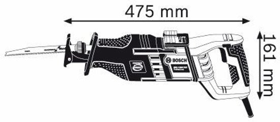 Bosc Reciprozaag GSA 1300 PCE SET bu