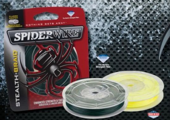 gevlochten lijn spiderwire stealth- braid 0.17 mm 137m.