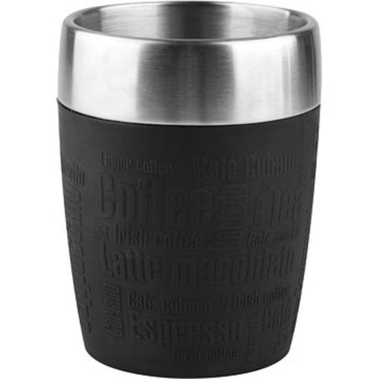 Tefal K30813 Travel Mug Thermos beker - 200 ml - RVS/Zwart