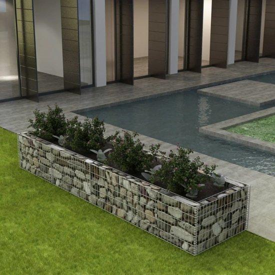 vidaXL Gabion plantenbak 360x90x50 cm staal