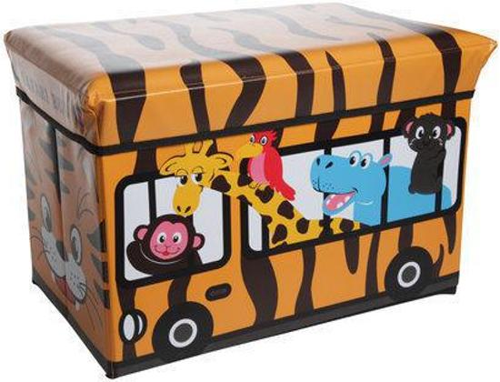 Cosy&Trendy for kids Kiddie Opbergzitbox - Safari - 49 cm x 49 cm