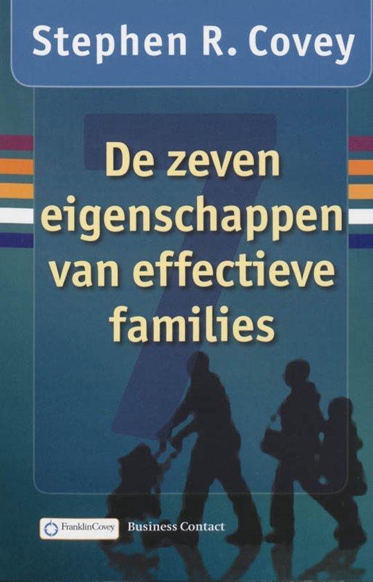 Boek cover De zeven eigenschappen van effectieve families van Stephen R. Covey (Paperback)