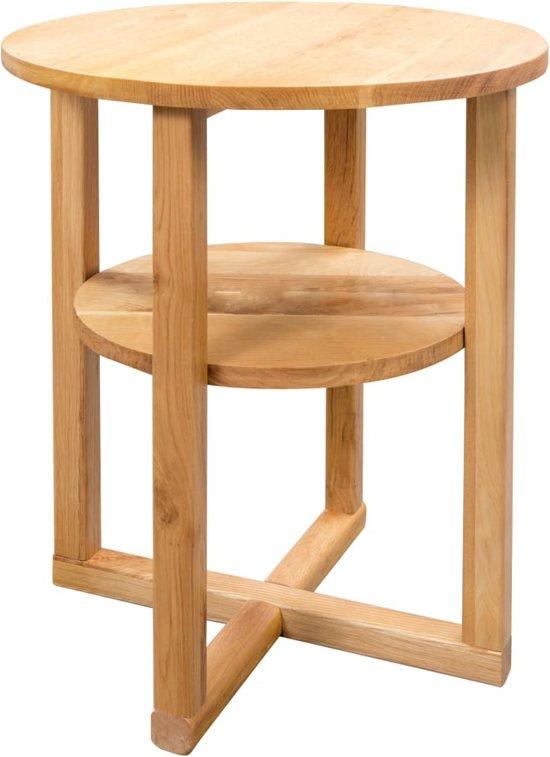 Bijzettafel nachtkast salontafel met plank tafel 2 laags 40x50cm