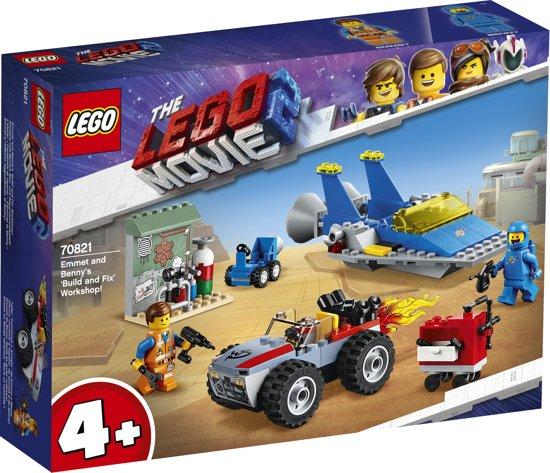 LEGO 4+ The Movie 2 Emmets en Benny's Bouw- en Reparatiewerkplaats! - 70821