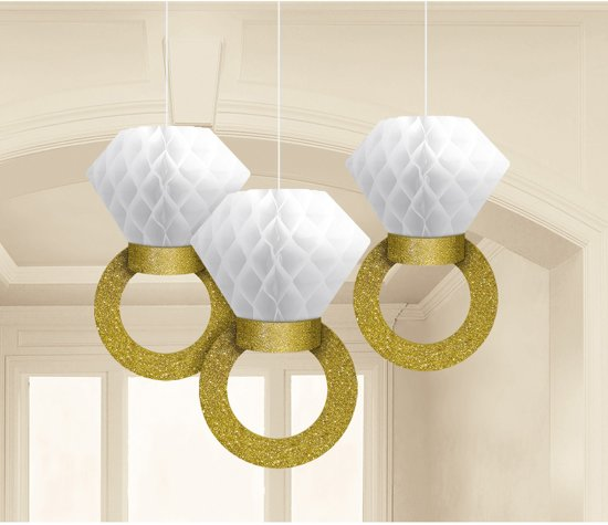 3 Honeycomb Decoration Wedding Decorations 30,4cm Valentinaa