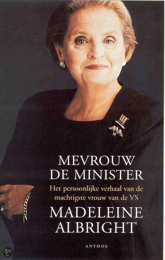 Boek cover Mevrouw De Minister van Madeleine Albright (Onbekend)
