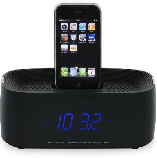 denver ifm 15 docking station met wekkerradio voor ipod en iphone grijs. Black Bedroom Furniture Sets. Home Design Ideas