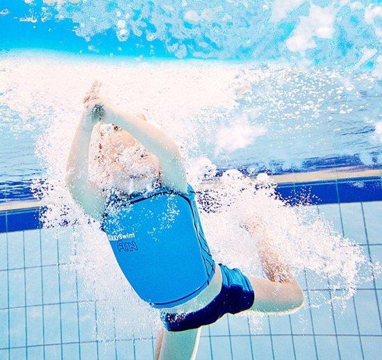 EasySwim Fun - Zwemvest/Drijfvest kind - Blauw - Maat L : 24-28 kg