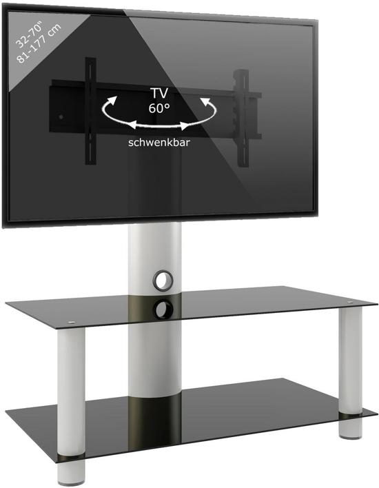 Design Tv Meubel Verrijdbaar.Bol Com Tv Meubel Voet Valeni Maxi Verrijdbaar Draaibaar 112 Cm