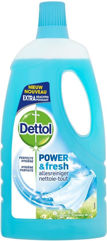 Dettol Power & Fresh Katoenfris - 6 x 1 L - Allesreiniger - Voordeelverpakking