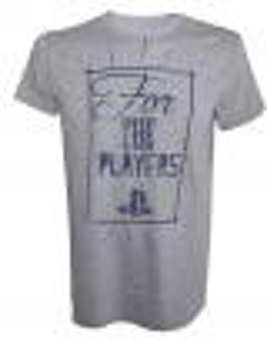 PlayStation - For the Players Mannen T-shirt - Grijs - XL