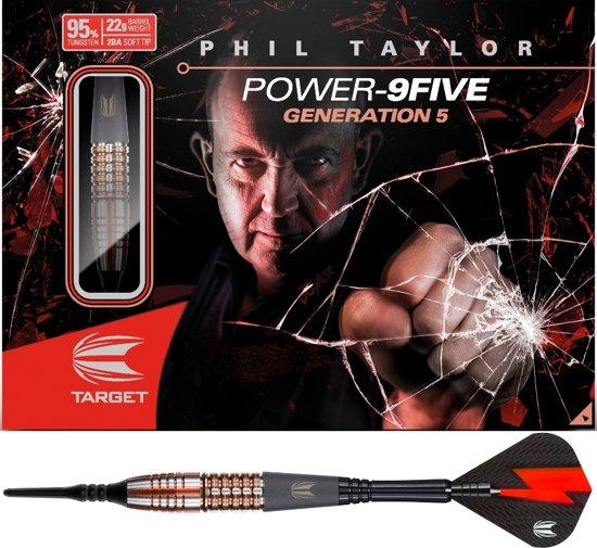 Target Softtip Phil Taylor Power 9FIVE Gen.5 95% Japan 22 gram