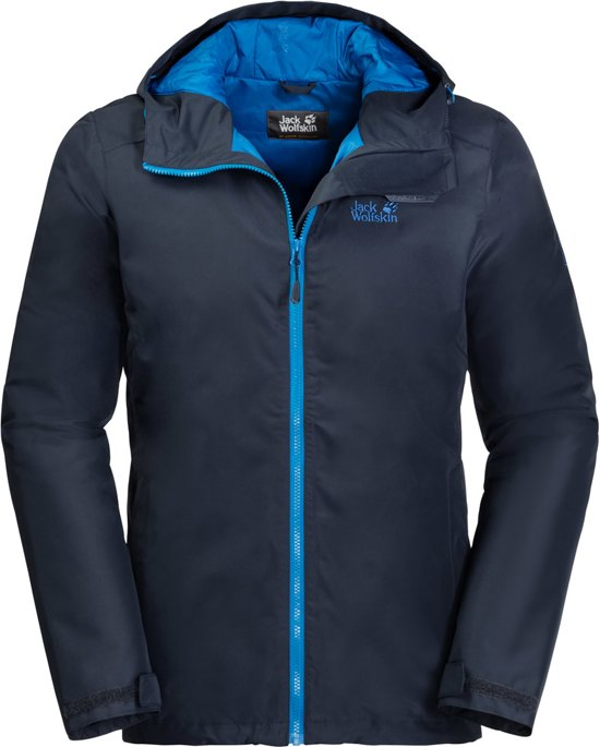 Jack Wolfskin Chilly Morning Jas Heren - Night Blue - Maat M