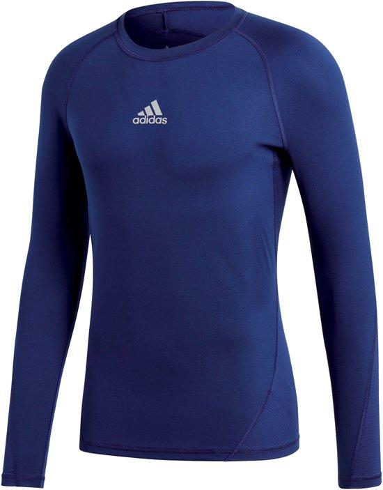 adidas Alphaskin Sport LS Shirt Heren Sportshirt performance - Maat M -  Mannen - blauw