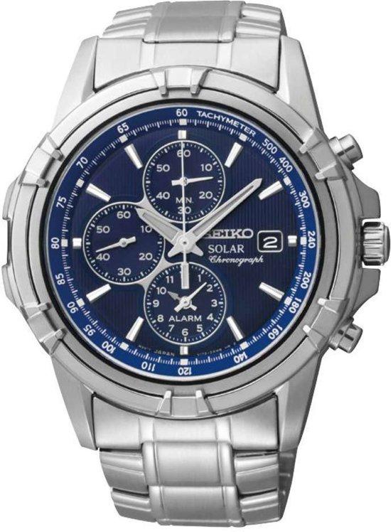 Afbeelding van Zilveren Seiko SSC141P1 - Horloge - Ø 42 mm - Zilverkleurig - Solar uurwerk