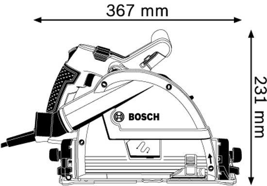 Bosch Professional GKT 55 GCE Cirkelzaag - 1400 Watt - 57 mm zaagdiepte - Inclusief zaagblad, FSN 1600 Geleiderail en L-BOXX
