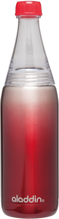 Aladdin Fresco Waterfles - RVS - 700 ml - Rood