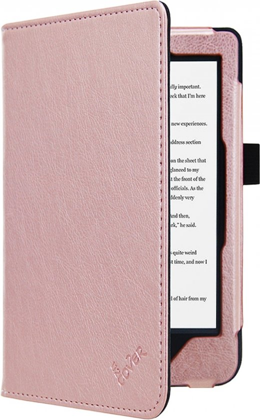 Kobo Clara Hd e-Reader Rose Gold/Goud Premium Hoes Case, luxe SleepCover, rose goud , merk i12Cover