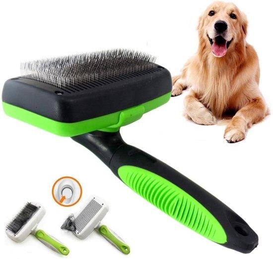 J-Pets - Hondenborstel - Voor het kammen van de ondervacht - Anti-klit - Verminderd haaruitval
