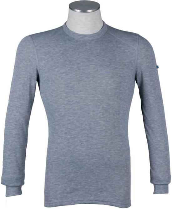 Odlo Bl Top Crew Neck L/S Active Warm Heren Thermoshirt - Grey Melange - Maat M