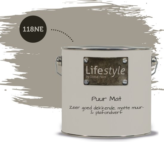 Lifestyle Puur Mat | Muurverf | 118NE | 2.5 liter