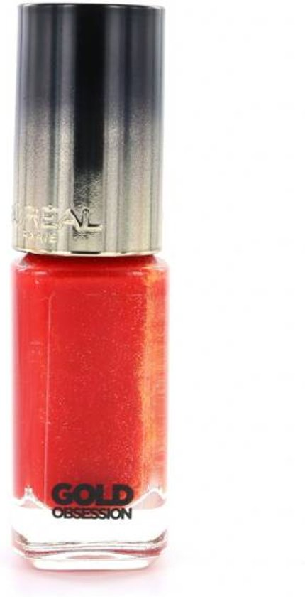 L'Oréal Paris Make-Up Designer Color Riche Collection Exclusive Gold Obsession 40 nagellak Rood 5 ml