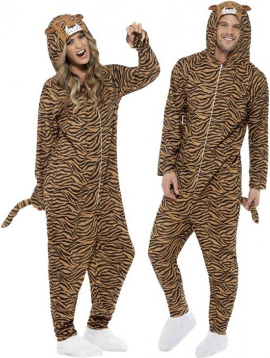 Onesie tijger voor volwassenen 40-50 (m)