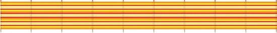 Yello Windscherm 10 Palen 120 X 610 Cm Geel/oranje/rood